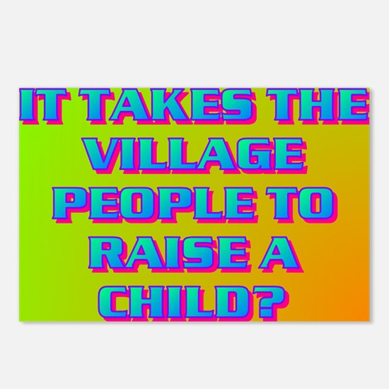 IT TAKES THE VILLAGE PEOPLE? Postcards (Package of