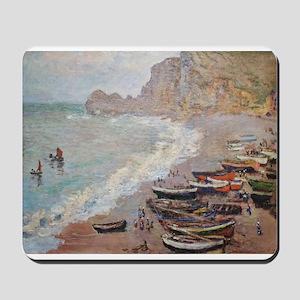 The Beach at Etretat - Claude Monet Mousepad