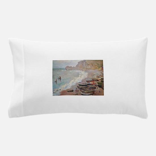 The Beach at Etretat - Claude Monet Pillow Case