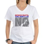 Party of NO Women's V-Neck T-Shirt