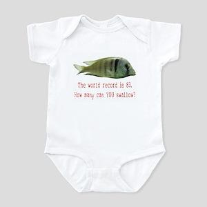 you swallow Infant Bodysuit