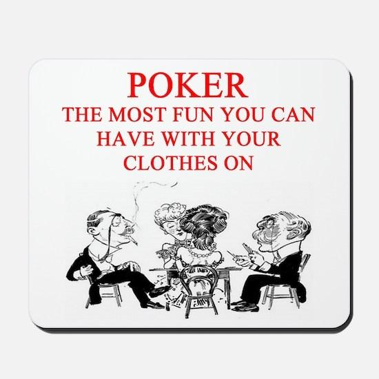 poker player joke Mousepad