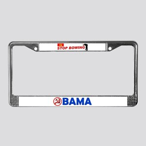 APOLOGIZE TO AMERICA License Plate Frame