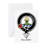 Galloway Clan Crest Badge Greeting Cards (Package