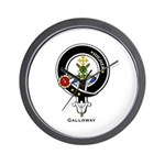 Galloway Clan Crest Badge Wall Clock