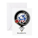 Galbraith Clan Crest Badge Greeting Cards (Package