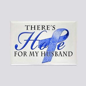 There's Hope for Colon Cancer Husband Rectangle Ma