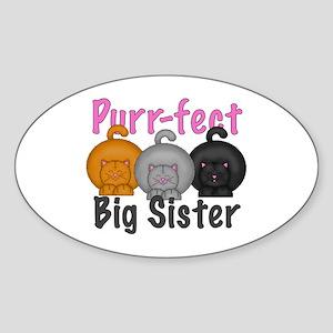 Purr-fect Big Sister Sticker (Oval)