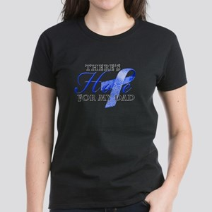 There's Hope for Colon Cancer Dad Women's Dark T-S