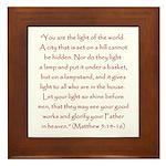St. Matthew Bible Verse Framed Tile