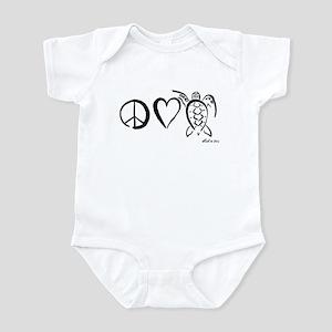 Peace, Love & Turtles Infant Bodysuit