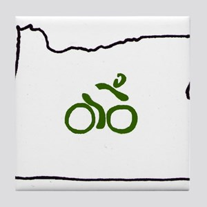 Bike in Oregon Tile Coaster
