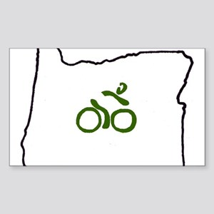 Bike in Oregon Sticker (Rectangle)