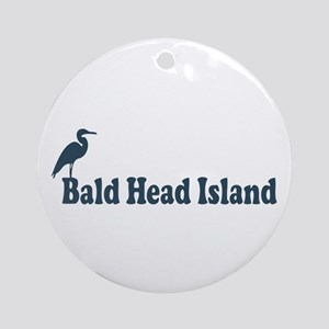 Bald Head Island NC - Beach Design Ornament (Round