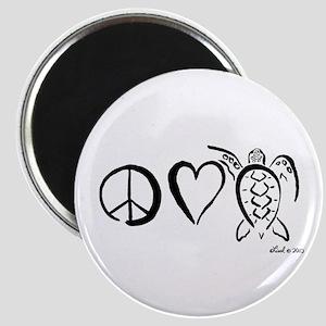 Peace, Love & Turtles Magnet