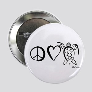 "Peace, Love & Turtles 2.25"" Button"