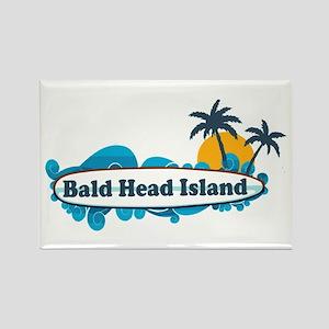 Bald Head Island NC - Surf Design Rectangle Magnet