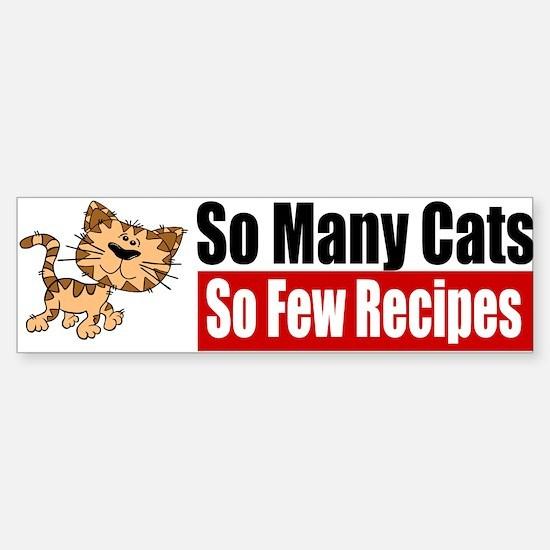 So Many Cats Sticker (Bumper)