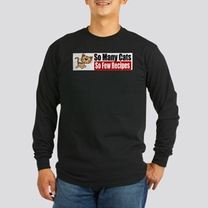 So Many Cats Long Sleeve Dark T-Shirt