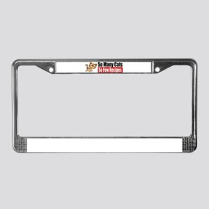 So Many Cats License Plate Frame