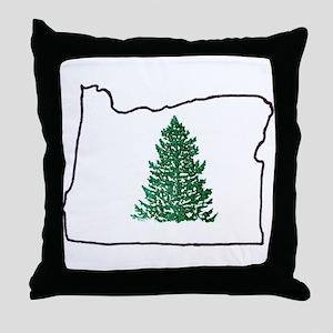 Tree in Oregon Throw Pillow