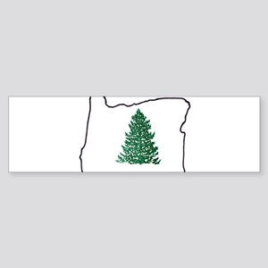 Tree in Oregon Sticker (Bumper)