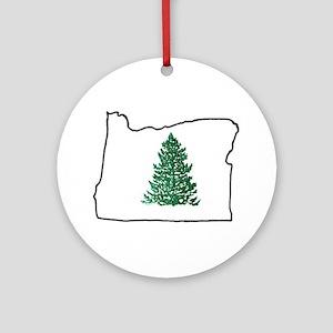 Tree in Oregon Ornament (Round)