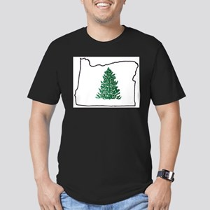 Tree in Oregon Men's Fitted T-Shirt (dark)