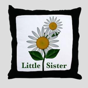 Daisies Little Sister Throw Pillow