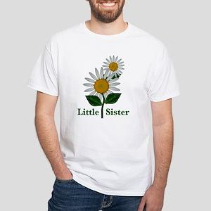 Daisies Little Sister White T-Shirt