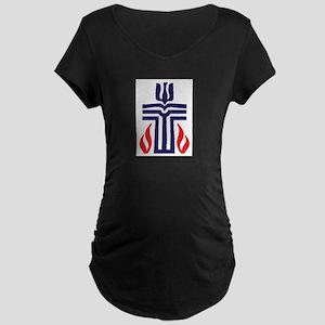 Presbyterian logo Maternity Dark T-Shirt