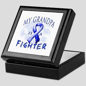 My Grandpa Is A Fighter Keepsake Box