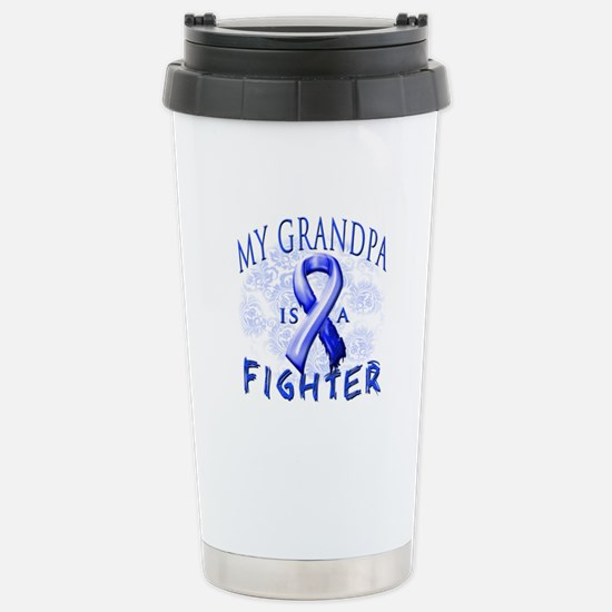 My Grandpa Is A Fighter Stainless Steel Travel Mug