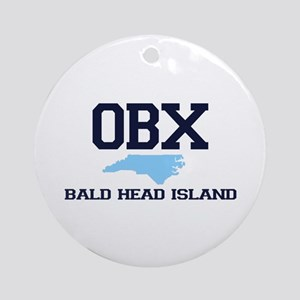 Bald Head Island NC - Map Design Ornament (Round)
