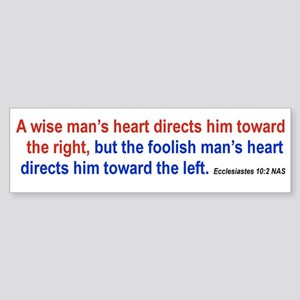 WISE RIGHT FOOLISH LEFT