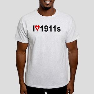 I (heart w/target holes) 1911s Light T-Shirt