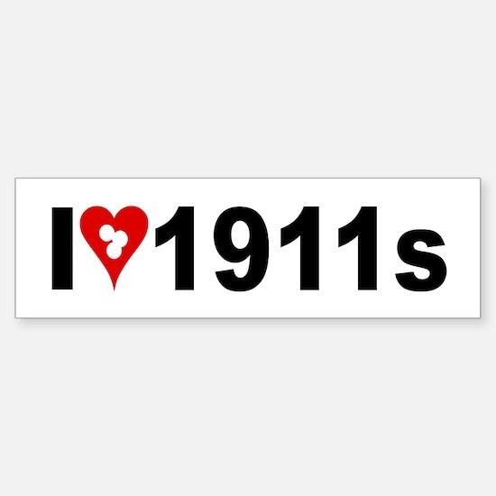 I heart w target holes 1911s sticker bumper