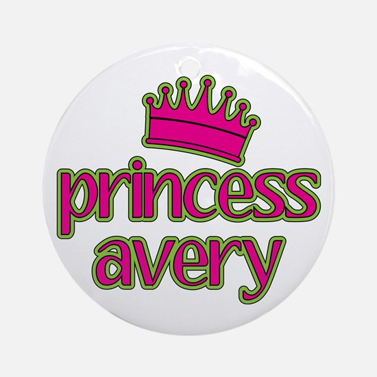 Princess Avery Ornament (Round)
