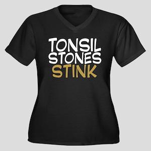 Tonsil Stones Stink Women's Plus Size V-Neck Dark