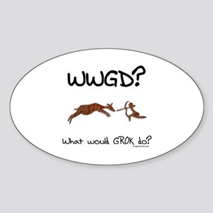 WWGD? What would GROK do? Sticker (Oval)