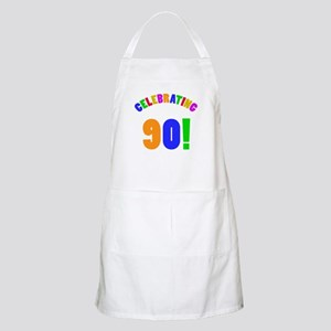 Rainbow 90th Birthday Party Apron
