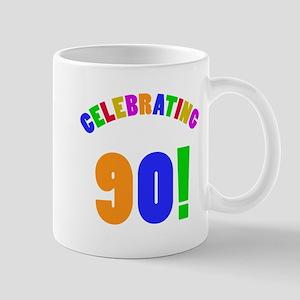 Rainbow 90th Birthday Party Mug