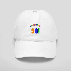 Rainbow 90th Birthday Party Cap