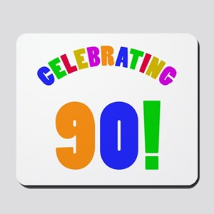 Rainbow 90th Birthday Party Mousepad