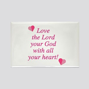 Love the Lord Rectangle Magnet