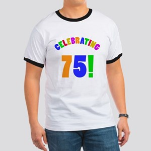Rainbow 75th Birthday Party Ringer T