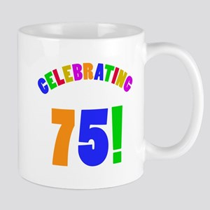 Rainbow 75th Birthday Party Mug