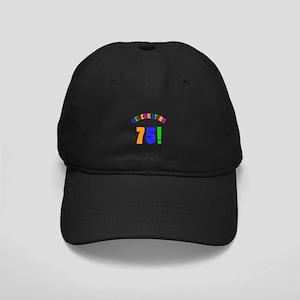 Rainbow 75th Birthday Party Black Cap