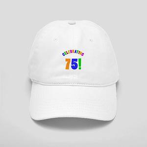 Rainbow 75th Birthday Party Cap
