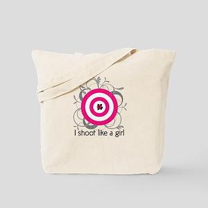 I Shoot Like a Girl Tote Bag